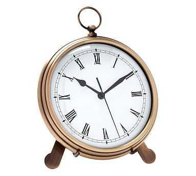 Pocket Watch Clock, Large, Brass - Pottery Barn