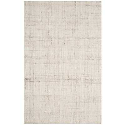 Abstract Ivory 6 ft. x 9 ft. Area Rug, Ivory/Beige - Home Depot