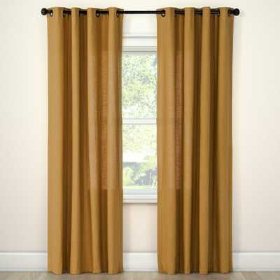 """Natural Solid Curtain Panel Golden Brass (54""""x84"""") - Threshold - Target"""