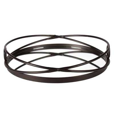 Kate and Laurel Delray Bronze Decorative Tray - Home Depot
