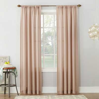 "Linen Blend Textured Sheer Rod Pocket Curtain Panel Blush 54""x95"" - No. 918 - Target"