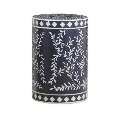 Coast to Coast Royals Blue and White Round Accent Table - Home Depot