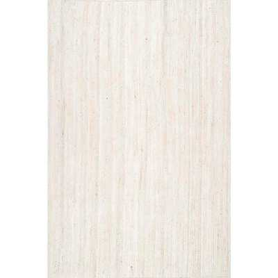 Rigo White 9 ft. x 12 ft. Area Rug - Home Depot