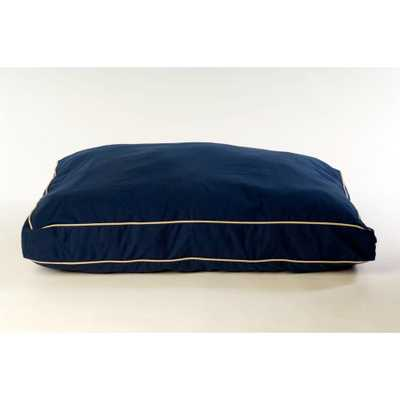 Carolina Pet Company Large Classic Twill Rectangle Jamison Bed - Blue - Home Depot