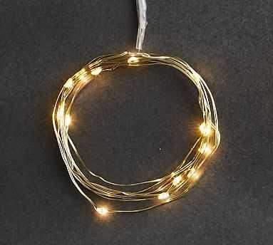 Mini Led String Lights, Gold - 5 Ft - Pottery Barn