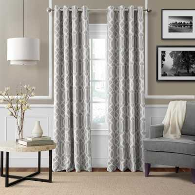 Elrene Blackout Harper Gray Blackout Window Curtain Panel - 52 in. W x 84 in. L, Natural Gray - Home Depot