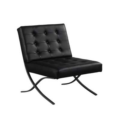 Peterson Faux Leather Chair Black - Relax A Lounge - Target