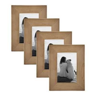 Museum 4 in. x 6 in. Rustic Brown Picture Frame (Set of 4) - Home Depot