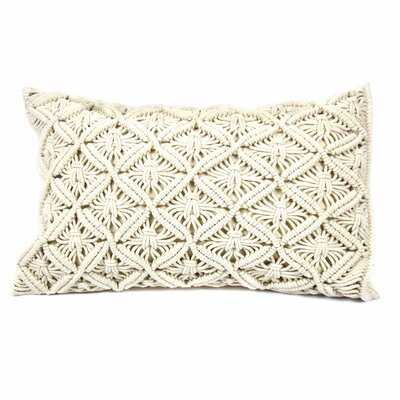 Handmade Macrame Pillow Cushion Cover, For 19 X 12 Inch Pillow Insert (not Included) - Wayfair