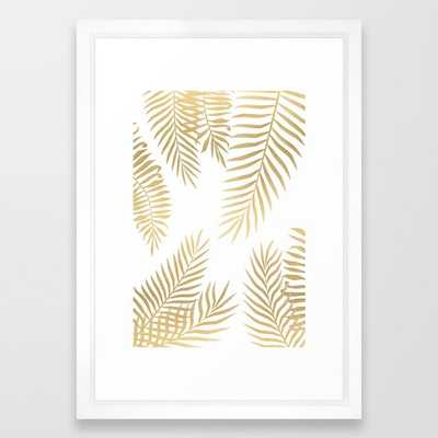 "Gold palm leaves - 15"" x 21"" - Framed - Society6"
