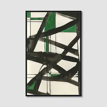 "Framed Print, Abstract Green Graffiti , 36"" X 48"" - West Elm"