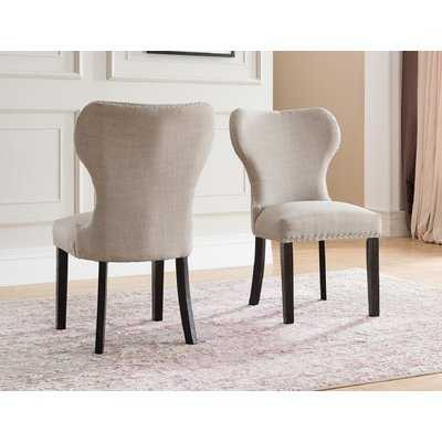 Swanston Wing Back Upholstered Dining Chair (set of 2) - Wayfair