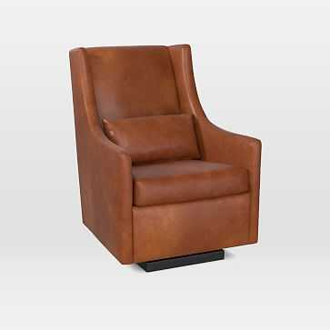 Graham Glider, Leather, Saddle, Acorn - West Elm