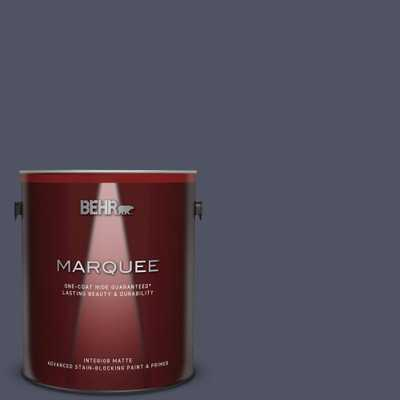 BEHR MARQUEE 1 gal. #630F-7 Black Orchid Matte Interior Paint and Primer in One - Home Depot