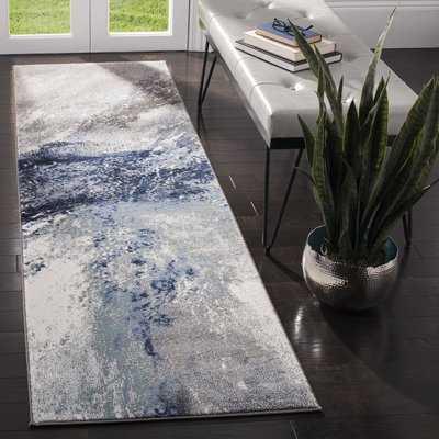 Elara Blue/Gray Area Rug - Wayfair