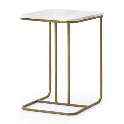 Audrey Marble C Table - Crate and Barrel