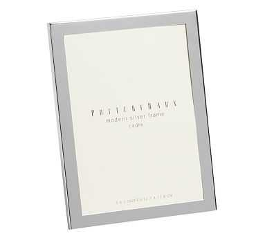 """Modern Picture Frame, 5 x 7"""", Silver-Plate - Pottery Barn"""