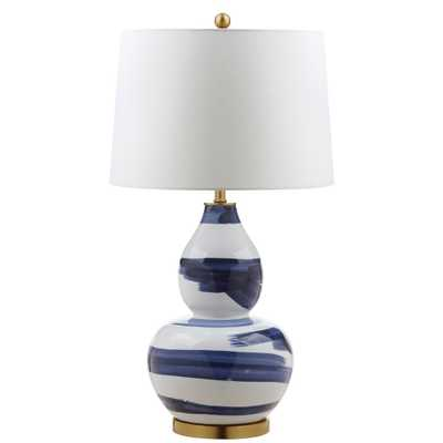 Safavieh Aileen 32 in. Blue/White Table Lamp - Home Depot