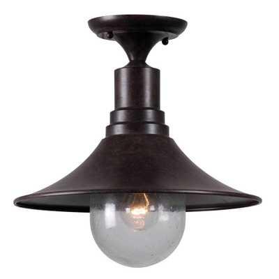 World Imports Brandon 1-Light Bronze Semi-Flush Mount Light - Home Depot