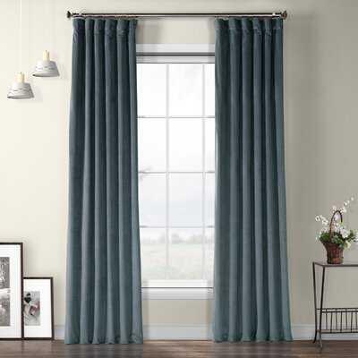 Livia Riverton Velvet Solid Color Room Darkening Thermal Rod Pocket Curtain Panel - Birch Lane