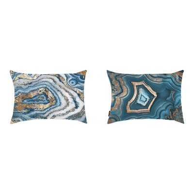 Liesel 2 Piece Geode Lumbar Pillow Set - Wayfair