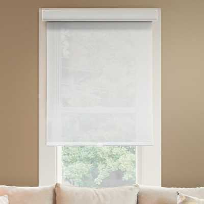 Chicology 24 in. W x 72 in. L Urban White Light Filtering Horizontal Roller Shade, Magnolia (Light Filtering) - Home Depot