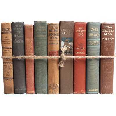 Authentic Decorative Books - By Color Antique Harvest ColorPak (1 Linear Foot, 10-12 Books) - Wayfair