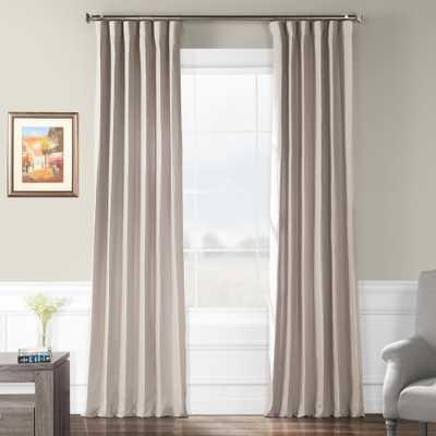 Exclusive Fabrics & Furnishings Earl Grey French Linen Curtain - 50 in. W x 96 in. L, Gray - Home Depot