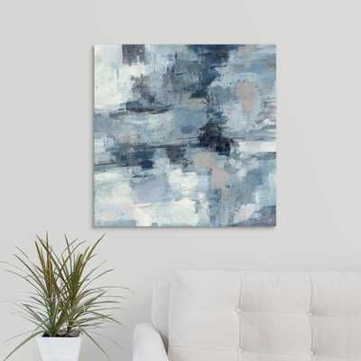 In the Clouds - Indigo and Gray by Silvia Vassileva Canvas Wall Art, Multi-Colored - Home Depot