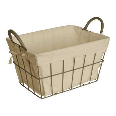 Decorative Storage Metal Basket - Wayfair