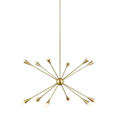 Generation Lighting Designer Collections ED Ellen DeGeneres Crafted by Generation Lighting Jax 38 in. W 12-Light Burnished Brass Chandelier with - Home Depot