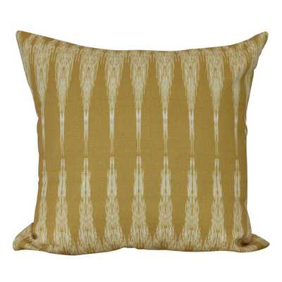 E by Design 16 in. Peace 1 Geometric Print Decorative Pillow, Yellows/Golds - Home Depot