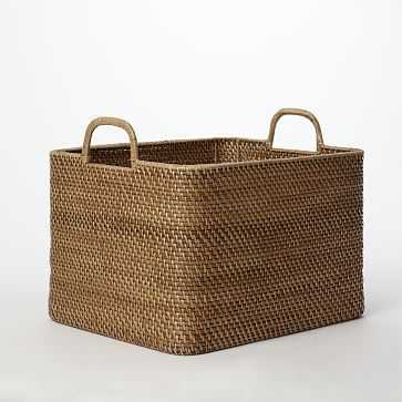 Modern Weave Storage Bin, Natural - West Elm