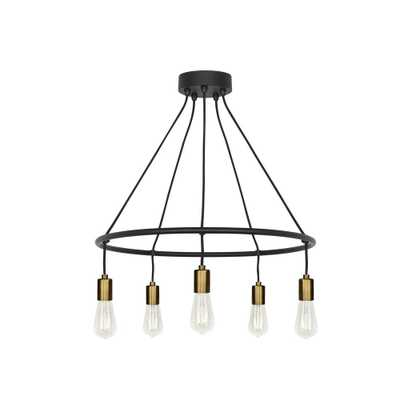 LBL Lighting Tae 5-Light Black/Aged Brass Chandelier - Home Depot