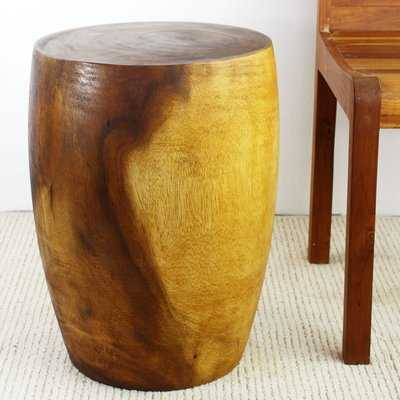 Aaliyah Mango Merlot Twist End Table - Wayfair