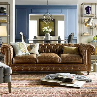 Julesburg Leather Chesterfield Sofa - Wayfair