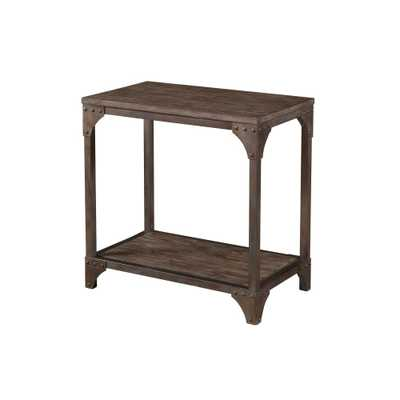 Asher Chair Side Table Reclaimed Wood - Powell Company - Target