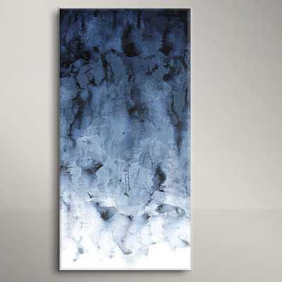 'Black Water' Painting Print on Wrapped Canvas - AllModern