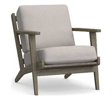 Raylan Occasional Chair Cushion, Sunbrella(R) Heather Gray - Pottery Barn