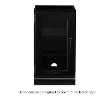 Printer's Single Glass Door Cabinet, Artisanal Black stain - Pottery Barn