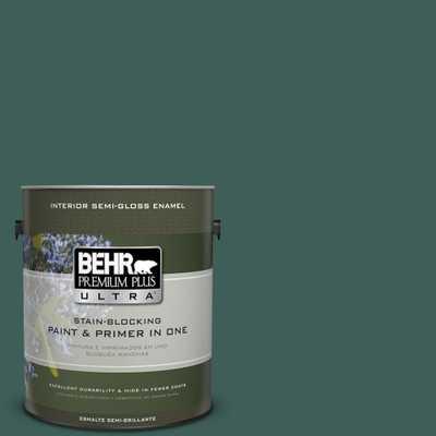 BEHR Premium Plus Ultra 1 gal. #T18-20 Equilibrium Semi-Gloss Enamel Interior Paint, Greens - Home Depot