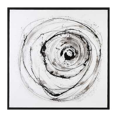 Eye on the World Modern Abstract Framed Painting Print - AllModern