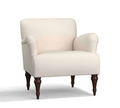 Hadley Upholstered Armchair, Polyester Wrapped Cushions, Twill Cream - Pottery Barn
