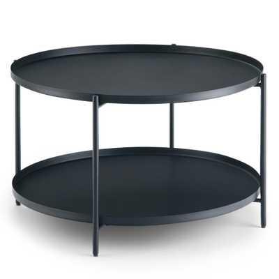 Simpli Home Monet Black Metal Coffee Table - Home Depot