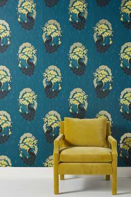 Deco Peacock Wallpaper - Anthropologie