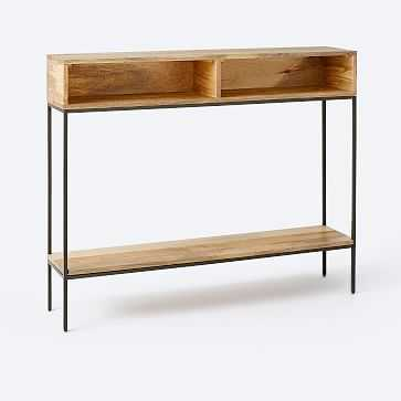 Industrial Storage Open Skinny Console, Raw Mango - West Elm