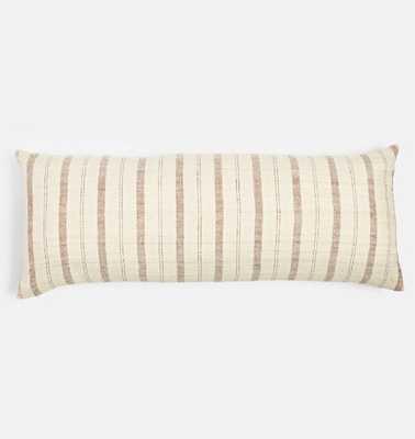 Stripe Handspun Raw Silk Pillow Cover - Rejuvenation