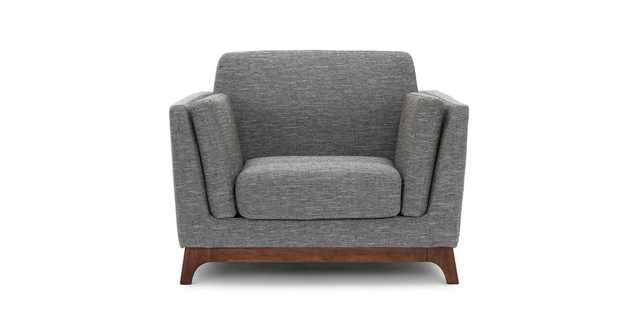 Ceni Volcanic Gray Armchair - Article
