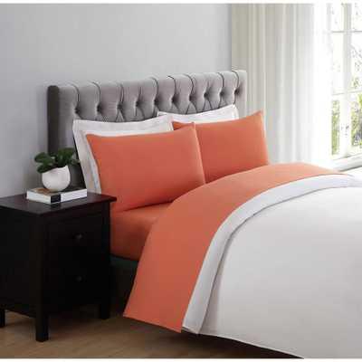Everyday Orange Twin Sheet Set - Home Depot
