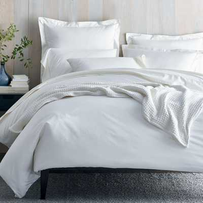 Organic 300-Thread Count Cotton Sateen White Queen Duvet Cover - Home Depot